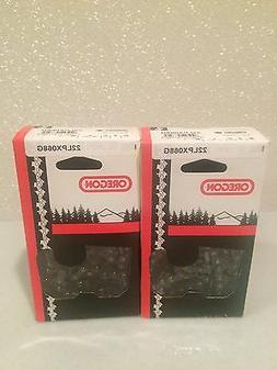 "2 Pack New Oregon 22LPX068G Chainsaw Chain 18"" .325 .063 68"