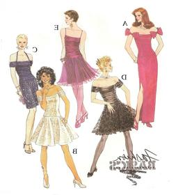 216 CLASSIC EVENING GOWNS DOLL PATTERN  Pick Your Size