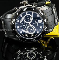 Invicta 21930 Men's Pro Diver Chrono Black Silicone And Dial