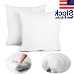 2PCS Hypoallergenic Down Substitute Polyester Square Pillow