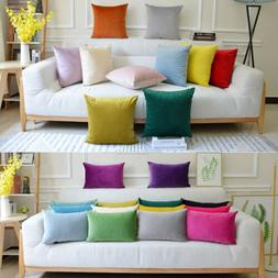 """2X 18"""" Waterproof Pillow Cover Garden Cushion Case For Indoo"""