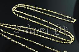 3.20gr 18k solid yellow gold diamond cut bead barrel chain n
