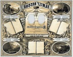3258 victorian marriage certificate record album poster