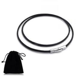 3mm chic unisex men women leather cord