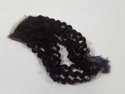 4x4  Brazilian Curly Hair Natural Black Color