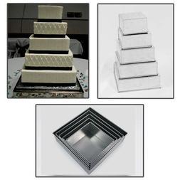 5 Tier Square Multilayer Wedding Birthday Anniversary Cake B