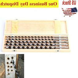 5 Pcs Long Auger Drill Bits Set Kit 18 Inch Wood Drills w/ W