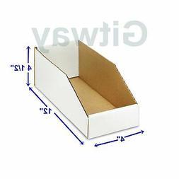 "50- 4 X 12 x 4 1/2"""" Corrugated Cardboard Open Top Storage P"