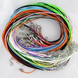 50PCS 18 inch Suede Leather String Necklace Charms Cords Rop