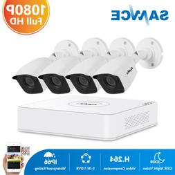 SANNCE H.264+ 8CH DVR Outdoor HD 1080P Video 3000TVL CCTV Se