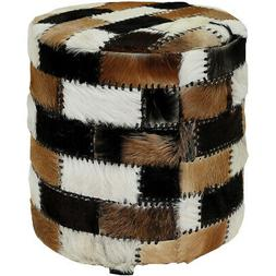 Dimond Home 7162-089 Patchwork 18 inch Natural Ottoman