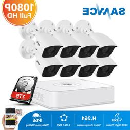 SANNCE 8CH DVR HD 1080P 3000TVL Security Camera System 2MP V