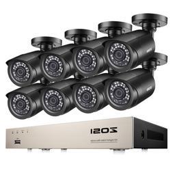 ZOSI 8CH H.265+ 5MP Lite DVR 1080P Outdoor Surveillance Secu