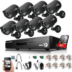 XVIM 8CH 1080N Outdoor Night Vision Home Security Camera Sys
