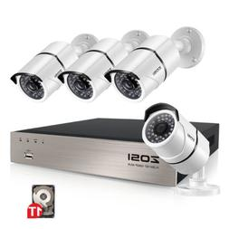 ZOSI H.265+ 8 Channel 5MP NVR 1T HDD 1080P POE IP Outdoor Se