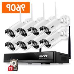 ZOSI 1080p 8CH NVR 8 960p HD IP Outdoor Wireless Security Ca