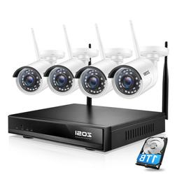 ZOSI 2MP Wireless Security Camera System 1080p 4CH WIFI NVR