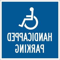 "Brady 91359, 18"" x 18"" Aluminum Handicapped Parking Sign, Wh"