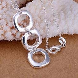 925 jewelry silver plated Fashion Jewelry Pendant Necklaces
