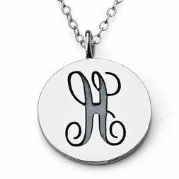 Azaggi 925 Sterling Silver Alphabet Scripted Initial Letter
