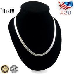 925 Sterling Solid Silver 6MM Snake Chain Men Women Jewelry