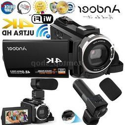 Andoer ULTRA HD WiFi 1080P 4K 48MP Digital Video Camera Camc