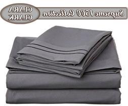 Clara Clark Superior Bed Sheet Set - Double Brushed Microfib