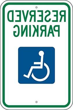 """Federal Handicap Parking Sign  12""""x18"""" 080 Aluminum"""