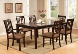 Furniture of America Madison 7-Piece Dining Table Set with 1