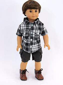 Grey and Black Boy Outfit for 18 inch Dolls