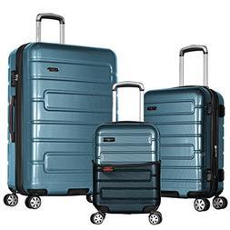 Olympia Nema 3-Piece Exp. Hardcase Spinner Luggage Set W/TSA
