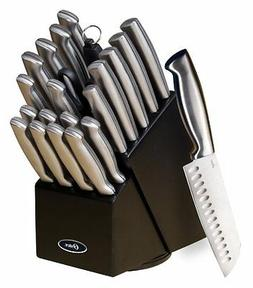 Oster 70562.22 Baldwyn 22-Piece Cutlery Block Set, Brushed S
