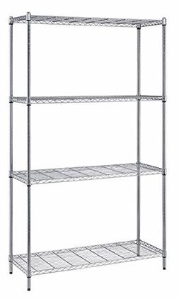 Quantum Storage 4-Shelf Wire Shelving Unit, 300 lb. Load Cap