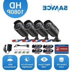 SANNCE 1080P HD Indoor Outdoor IR Night Vision CCTV Home Sec