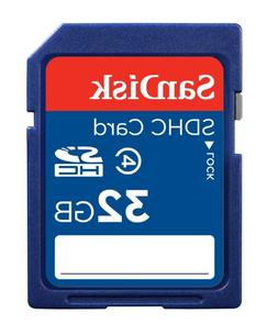 SanDisk 32GB Class 4 SDHC Memory Card, Frustration-Free Pack