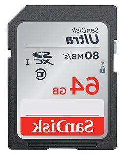SanDisk 64GB Ultra SDXC UHS-I Memory Card SDSDUNC-064G-GN6IN