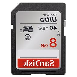 SanDisk Ultra 8GB Class 10 SDHC Memory Card Up To 40MB/s- SD