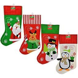 Set of 4 Pack: Christmas House Polyester Christmas Character