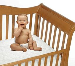 Snoozy Cotton Waterproof Crib Mattress Pad Featuring Safety