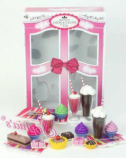 "Sophia's 18"" Doll Dessert Set with Desserts, Serving Plates,"