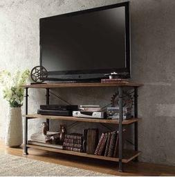 TRIBECCA HOME Myra Vintage Industrial Brown Wood - Iron TV S