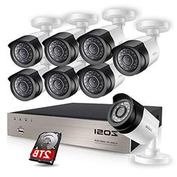 ZOSI FULL 1080P HD-TVI Video Color Security System 8 Channel