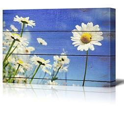 wall26 A lone Daisy faces Camera - Rustic Floral Arrangement