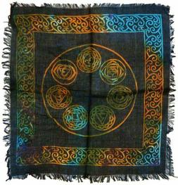 Altar Cloth 18x18 inch: Seven Chakras  Wiccan FREE SHIPPING