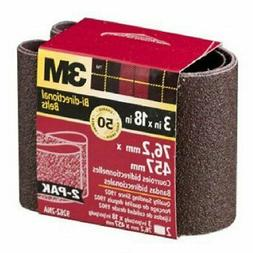 "3M 9262NA-2 3"" X 18"" Coarse Power Sanding Belts 2 Pack"