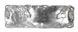 Arthur Court Aluminum Rectangular 6 x 18 inch Horse Head Ser