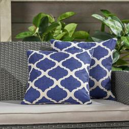 Amelia Outdoor 18-inch Water Resistant Square Pillows