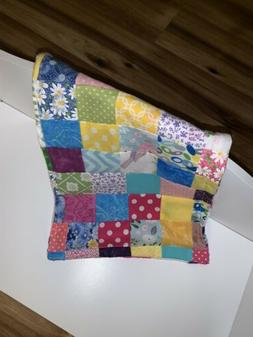 American/ 18 Inch Doll Handmade Patchwork Throw Blanket