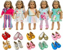 ZITA ELEMENT American 18 Inch Girl Doll Clothes Outfits Lot