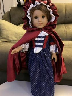 American Girl 18 inch doll Handmade Historical Gown And Cloa